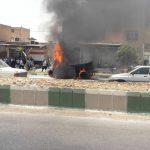 تصادف منجر به آتش سوزی در دزفول مرگ راننده را رقم زد