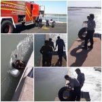 نجات ماهی گیر ۴۶ ساله از رودخانه دز